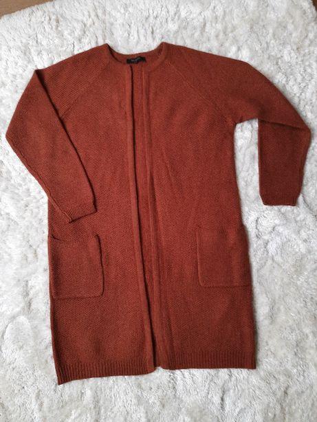 Kardigan długi sweter płaszcz Selected Femme r.40 wełna+alpaka, NOWY