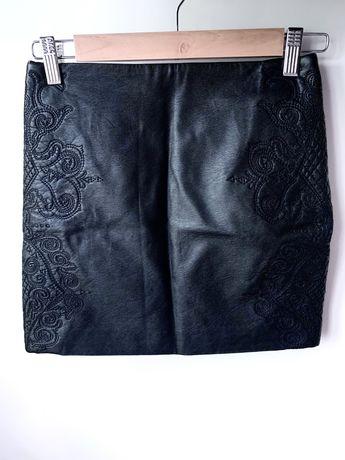 Spódnica czarna eco skóra H&M