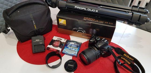 Nikon D5200 + obiektyw 18-105 + filtr polaryzacyjny + UV + statyw