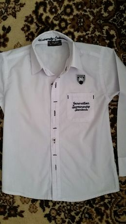 Рубашка школьная на рост 128см