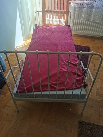 Ikea Łóżko z materacem rosnące z dzieckiem