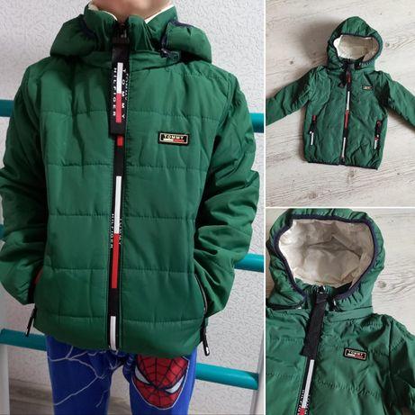 Крутая демисезонная куртка для мальчика 104-128см
