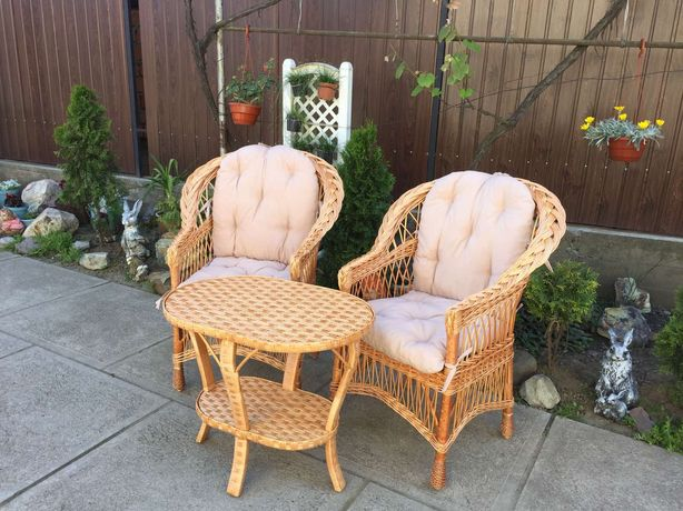 Набор мебели из лозы - для балкона, террасы, беседки. Садовая мебель.