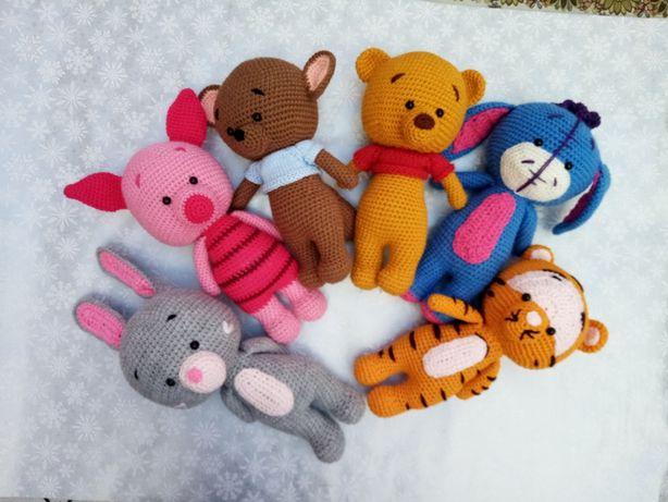 вязанные мягкие игрушки, 100% ручная работа, вини-пух и его друзья