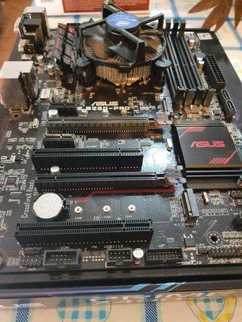 Processador intel core i5 7600 + motherboard asus b-250 pro gaming