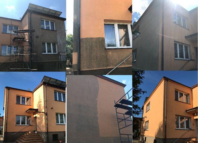 Czyszczenie kostki brukowej , elewacji budynków oraz dachów