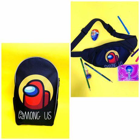 Набор Рюкзак ранец школьный Бананк сумка Амонг ас among us розница опт