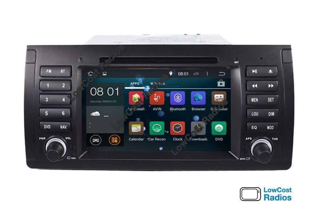 Rádio Multimédia GPS ANDROID 10 — BMW E39 e E53 (Série 5 e X5) c/ NET