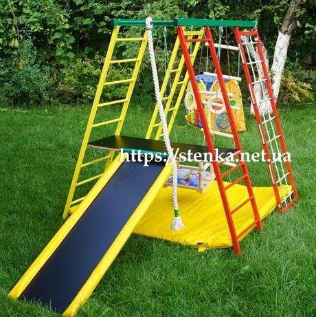 Детская площадка с горкой, спортивный уголок, комплекс, мат, навесное