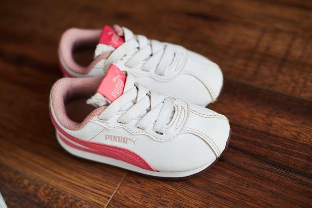 дитячі білі кросівки на дівчинку Puma(Пума) 22 розмір, 14 см