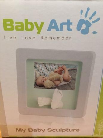 Рамочка со слепками и фото от компании Baby Art Беби Арт.