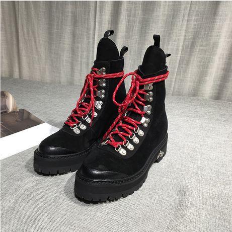 OFF White Hiking boots ботинки на шнуровке женские ботильоны сапожки
