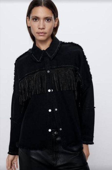 Джинсовая рубашка джинсовка Zara Новоивановка - изображение 1