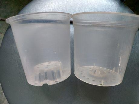 Горшок прозрачный пластиковый
