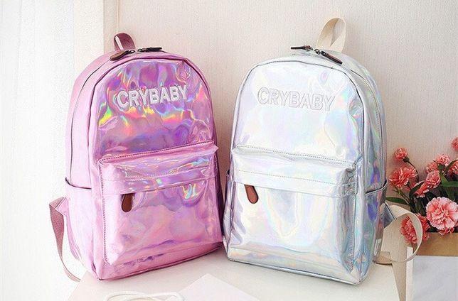 Рюкзаки для девочек Cry baby(Край беби). Рюкзак голографический.
