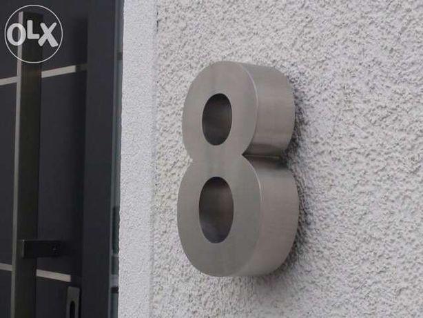 Números residenciais de Inox - Nr. 8 em 3D para Portas ou Entradas