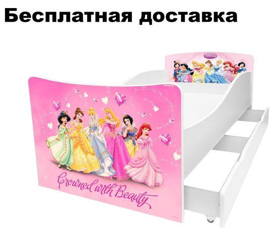 Кровать для девочки розовая Китти Принцесса Карета БМВ ліжко машина