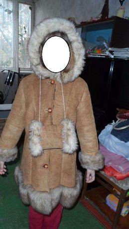 Пальто/Куртка/Дубленка зимняя на девочку