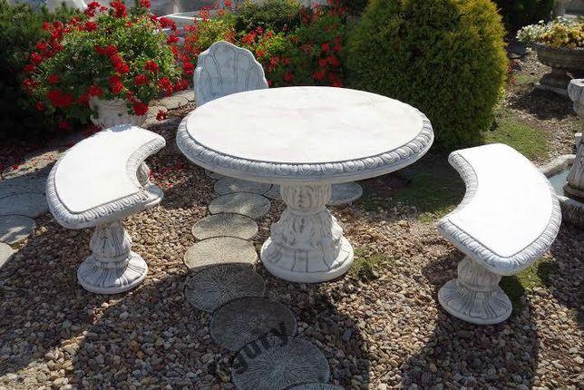 Meble ogrodowe betonowe stół + 2 ławki