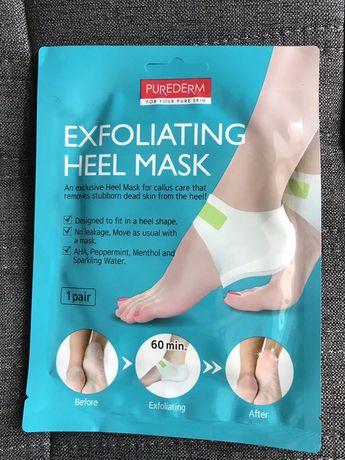 Маcка- пиллинг для пяточек purederm exfolaiting heel mask Корея