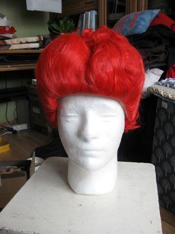 czerwona peruka wiedźma alicja w krainie czarów kok cosplay przebranie