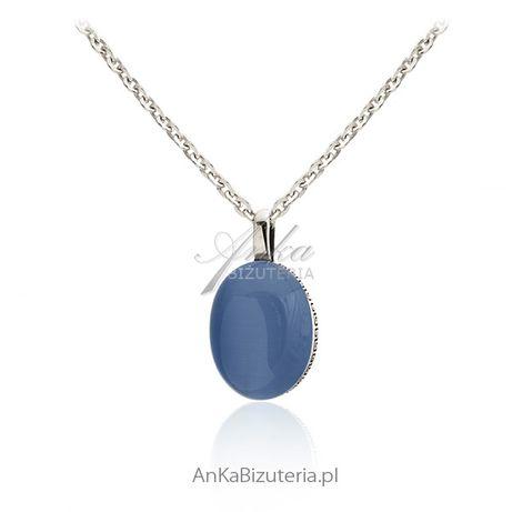 ankabizuteria.pl szlachetna biżuteria Kolczyki srebrne z kolorowym bur