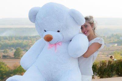Огромный плюшевый мишка на подарок мягкий ведмедь