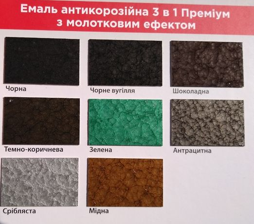 Краска молотковая эмаль Премиум 3в1 0,7кг антикоррозионеая,