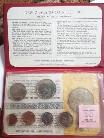Годовой набор монет Zealand 1975г prof