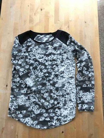 Bluzka czarno - biała odcienie szarości M