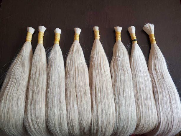 Волосы для наращивания блонд люкс качества
