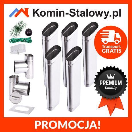 Wkład Kominowy Owalny do Komina Fi120x180/5m/1mm Kwaso-żarooodporny