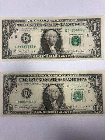 Доллар $ С красивым номером