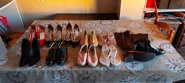 Sapatos de mulher n°36, várias marcas, novos e alguns com pouco uso