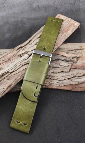 Pasek do zegarka ze skóry bydlęcej, handmade, szer. 22 mm