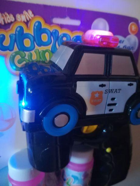 Пистолет с мыльными пузырями-Полицейская машина. Свет,звук