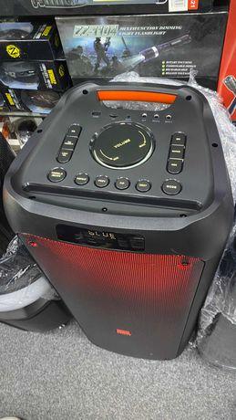 Портативная аккумуляторная Колонка чемодан с 2 микрофонами караоке