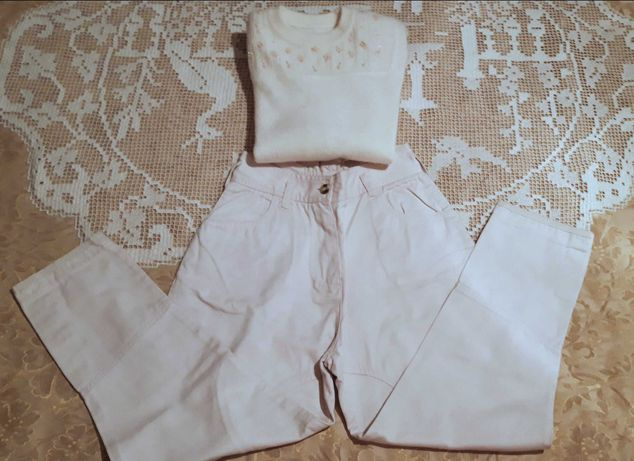Calças à cavaleiro + camisola