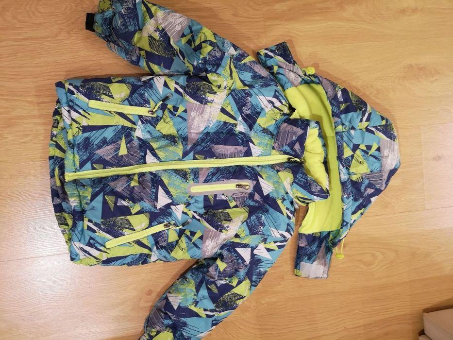 Зимняя теплая куртка 110размер на 3-4года. Вишневое - изображение 1