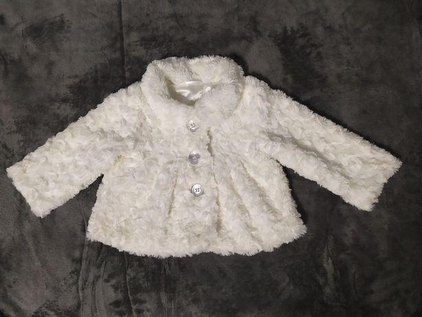 Białe futerko rozmiar 74