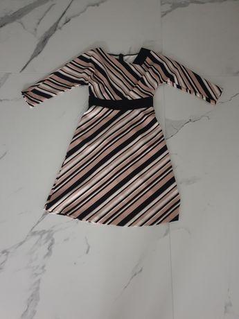 Taranko sukienka w pasy wyszczuplajaca r. 34