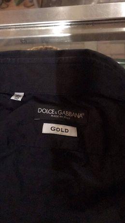Koszula czarna dolce gabbana gold 40r