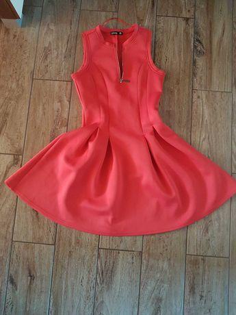 Nowa sukienka Sinsay rozkloszowana czerwona xs s zara