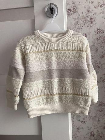 Sweterek GAP 92 krem ecri