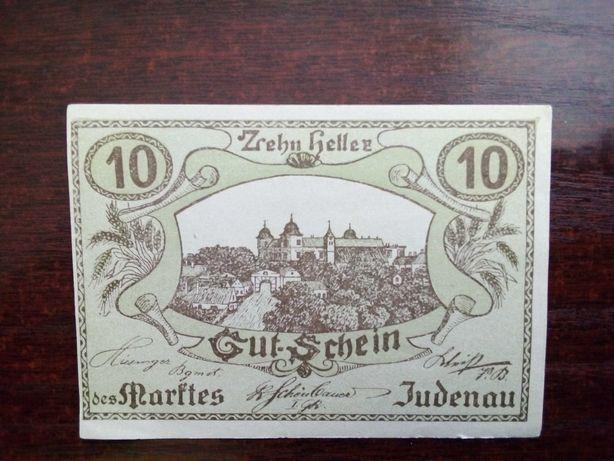 Banknot 10 heller Austria