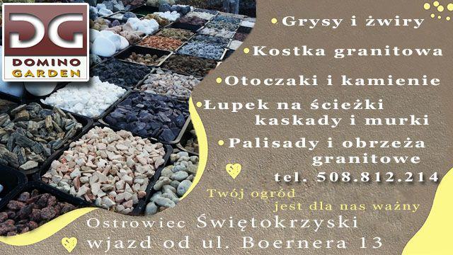 Grys kamień granitowy do ogrodu granit SZARY PREMIUM 8-16 Ostrowiec Św