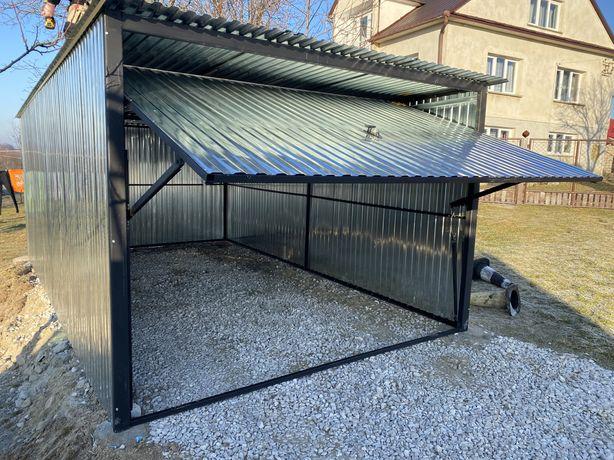 Garaż garaże blaszane garaż na budowe 3x5 Wzmocniony Promocja