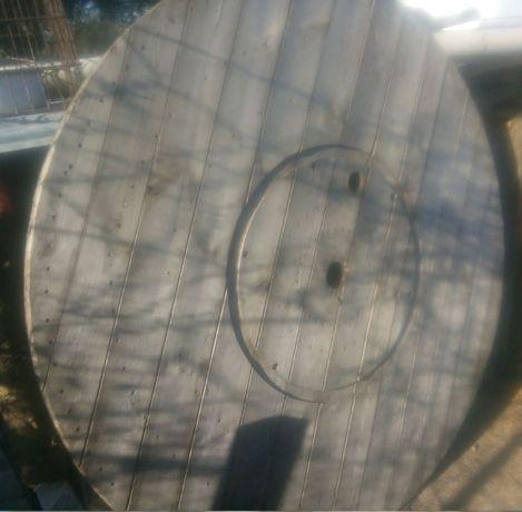 Duże drewniane koła