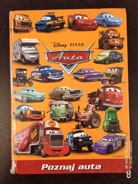 Książeczka Cars wydawnictwa Egmont