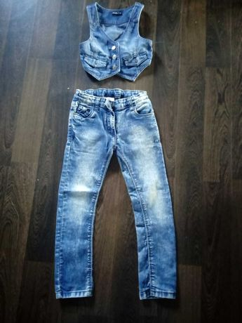 Jeansowy komplet r. 116